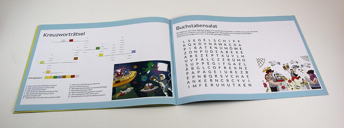 Malbuch für Besucher-Kinder in der Gastronomie
