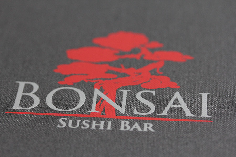 Bonsai - Sushi Bar mit Logo